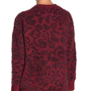 14Th & Union NEW fuzzy jacquard sweater sz M